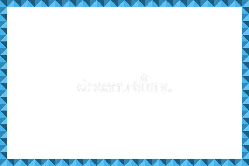 Blaue Farbe des geometrischen Grenzrahmen-Vektors Moderne Artschablone für Collage vektor abbildung