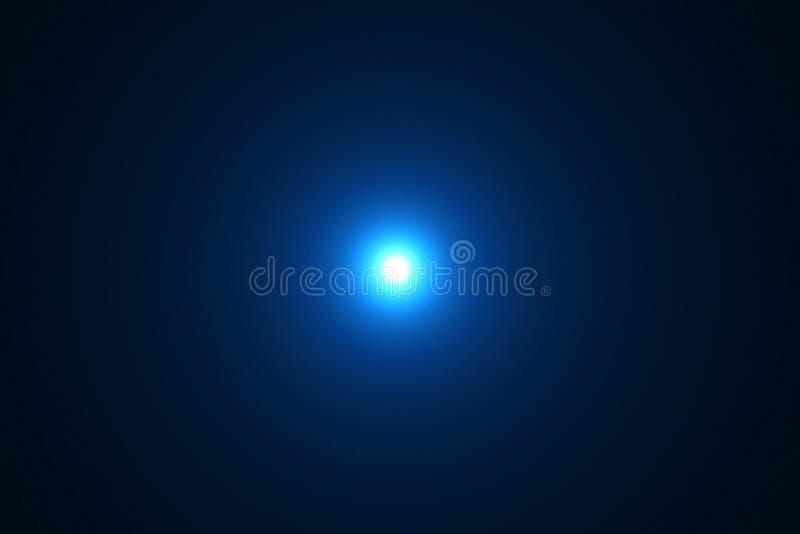 Blaue Farbheller Blendenfleck strahlt helle Blitzleckbewegung FO aus stock abbildung