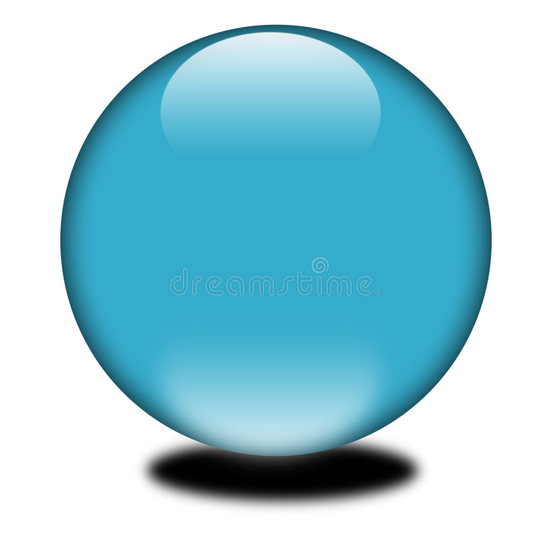 blaue farbige Kugel 3d vektor abbildung