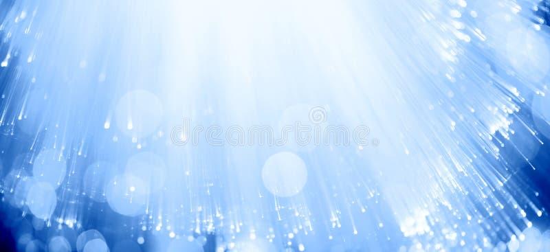 Blaue Faseroptik stockfotos