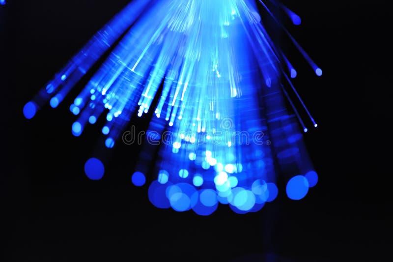 Blaue Faseroptik stockfoto