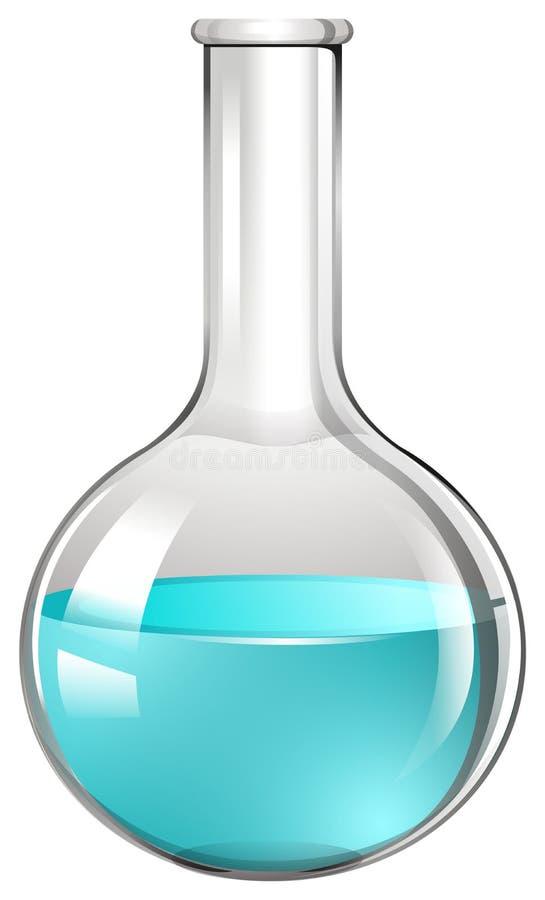Blaue Flüssigkeit im Glasbecher lizenzfreie abbildung