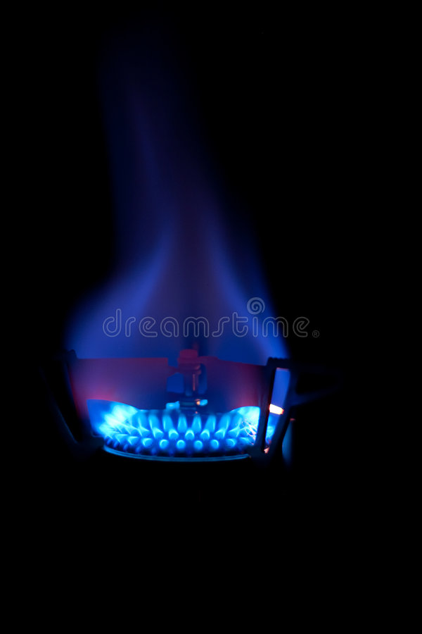 Blaue Flamme stockfoto