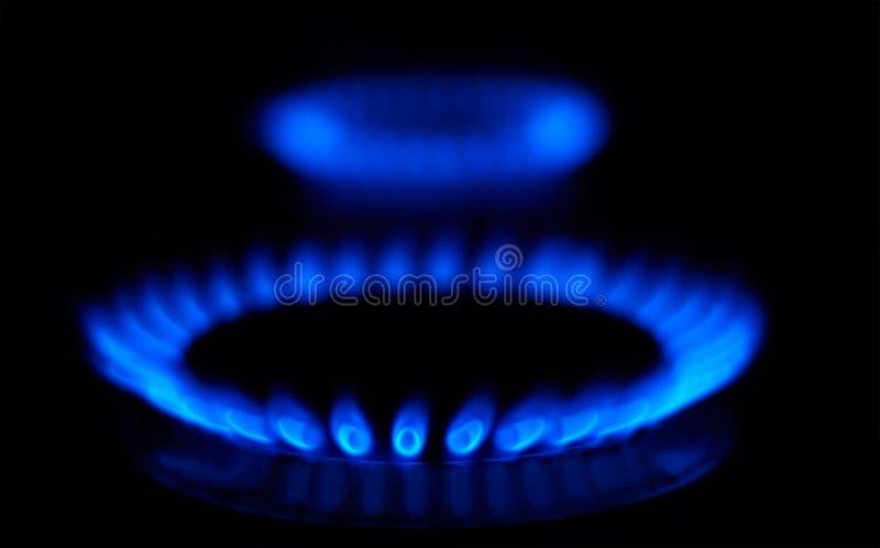 Blaue Flammen lizenzfreies stockfoto