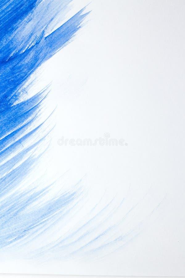 Blaue Flecktropfenfänger des hellen Aquarells Abstrakte Abbildung auf einem weißen Hintergrund Fahne für Text, Schmutzelement für stockfoto