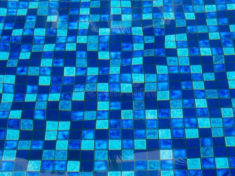 blaue fliesen in swimimg pool stockbild bild von dunkel distort 47065521. Black Bedroom Furniture Sets. Home Design Ideas