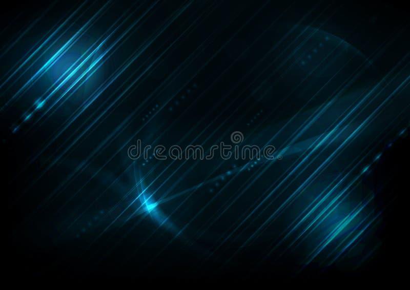 Blaue futuristische englische Codezusammenfassungshintergründe lizenzfreie abbildung