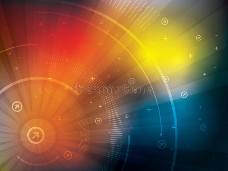 Blaue futuristische Zusammenfassung des Technologiehintergrundes vektor abbildung
