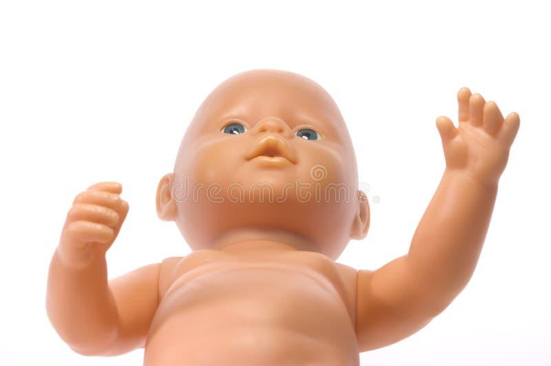 Blaue gemusterte Puppe stockbild