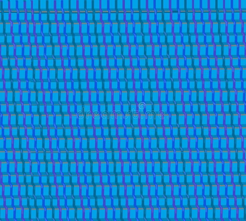 Blaue gesponnene Textilthreads stockbilder
