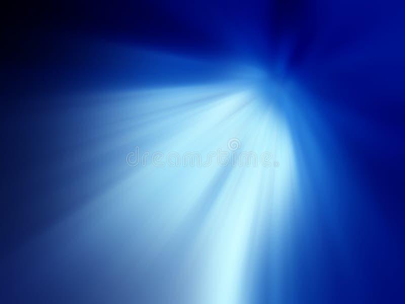 Blaue glänzende Leuchte lizenzfreie abbildung