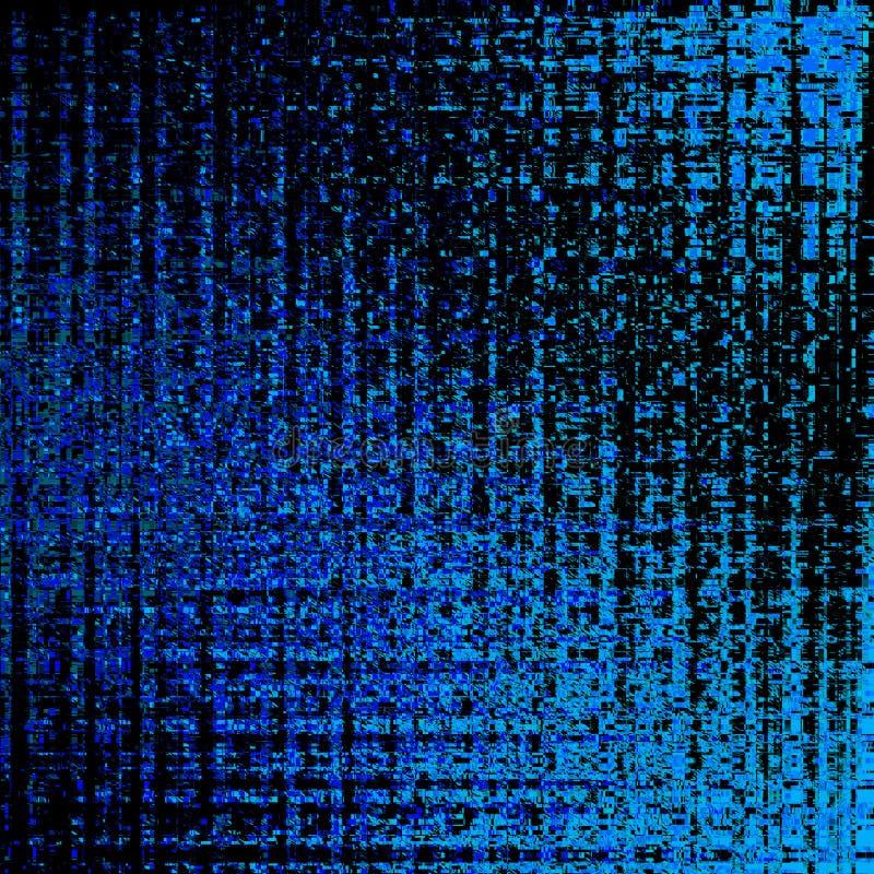 Blaue gl?hende Neonpartikel auf schwarzem Hintergrund Geometrisches Muster lizenzfreie abbildung