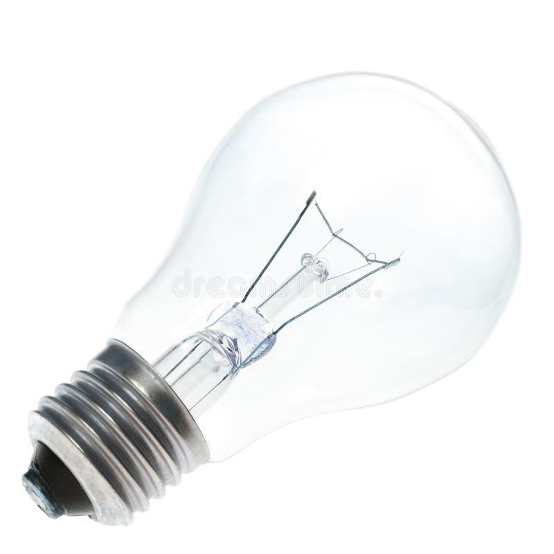 Blaue Glühlampe getrennt lizenzfreies stockbild