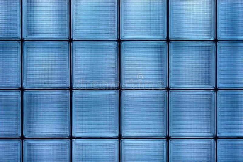 Blaue Glasfliesewand stockfoto