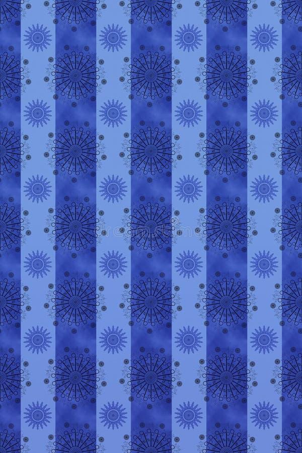Blaue grafische Tapete stockfotografie