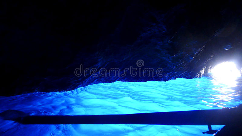 Blaue Grotte, Capri, Italien lizenzfreies stockbild