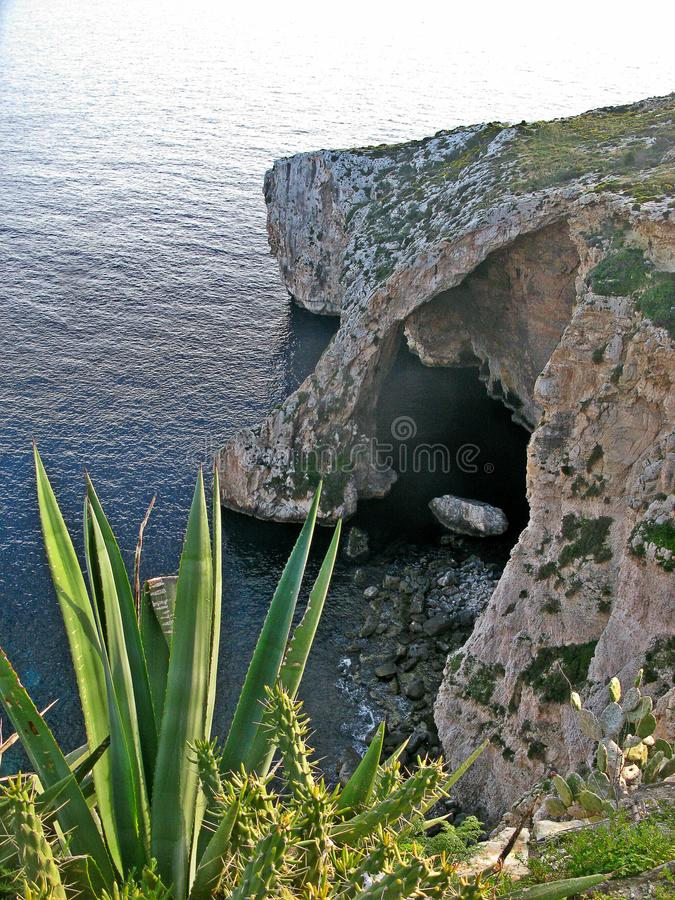 Blaue Grotte, Malta stockfotos