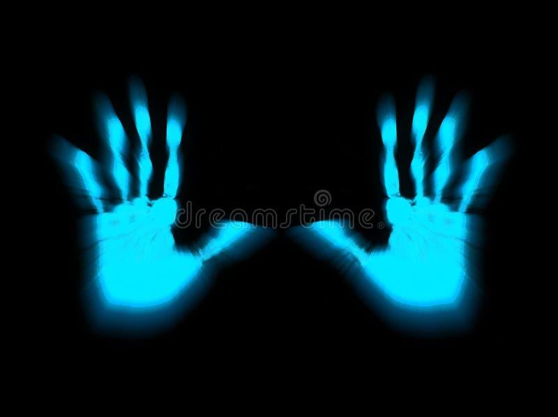 Blaue Hände lizenzfreie abbildung