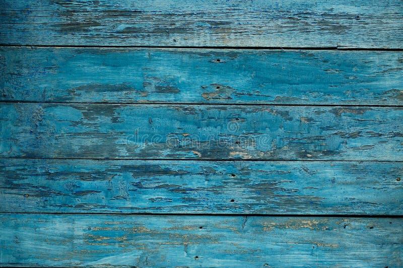 Blaue hölzerne Wand des Hintergrundes stockbild