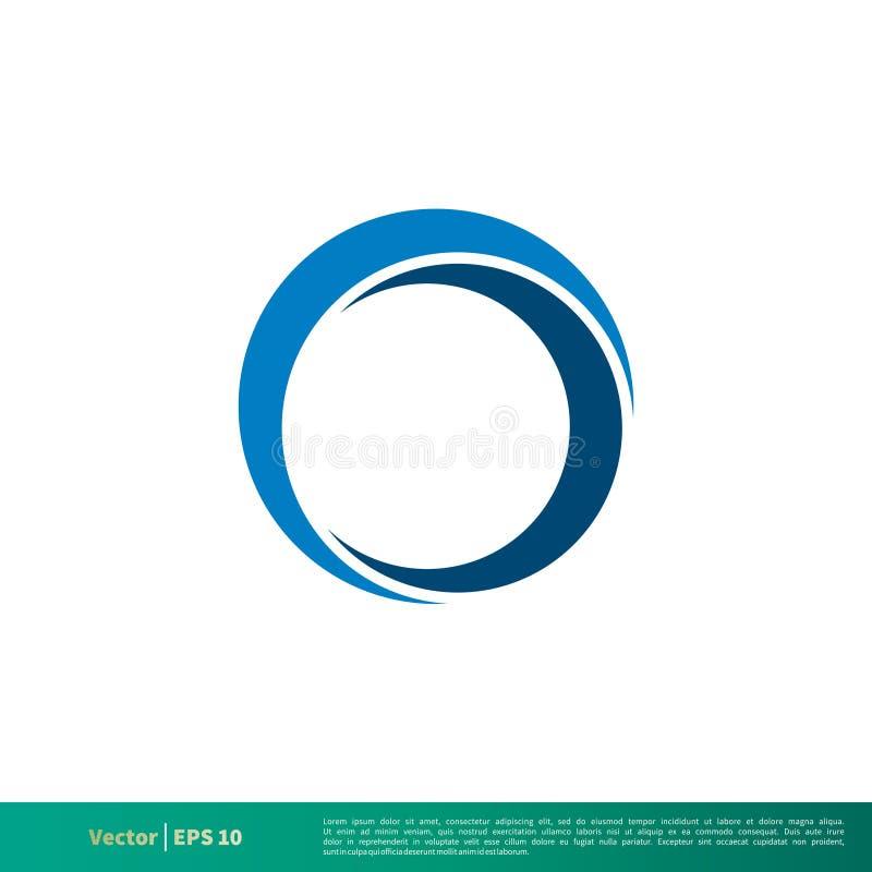 Blaue Halo-Vektor-Ikone Logo Template Illustration Design Vektor ENV 10 lizenzfreie abbildung