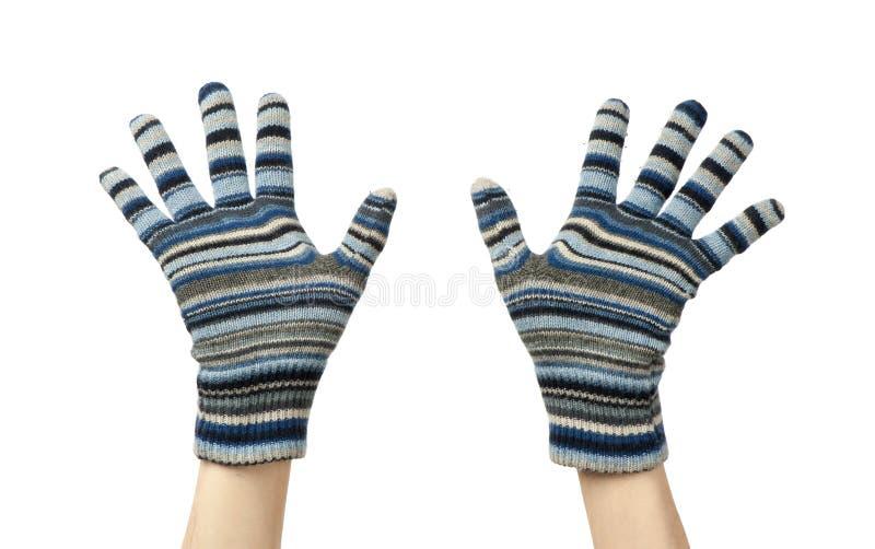 Blaue Handschuhe stockfotos