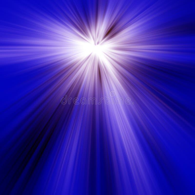 Blaue helle Strahlen lizenzfreie abbildung