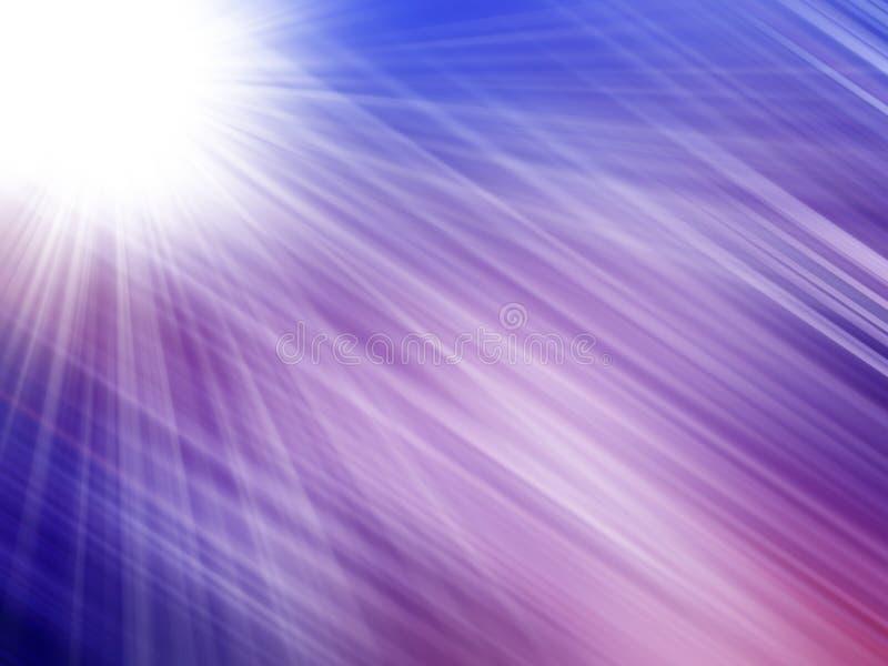 Blaue helle Strahlen stock abbildung