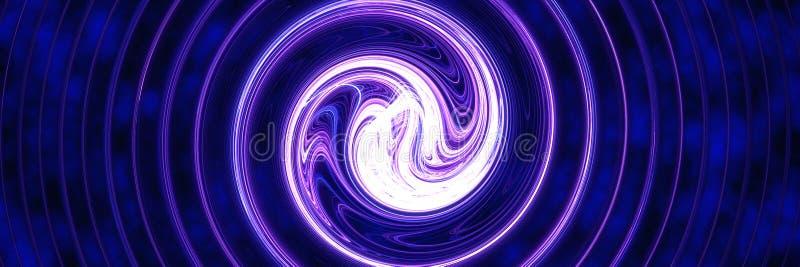 Blaue helle Turbulenz lizenzfreie abbildung