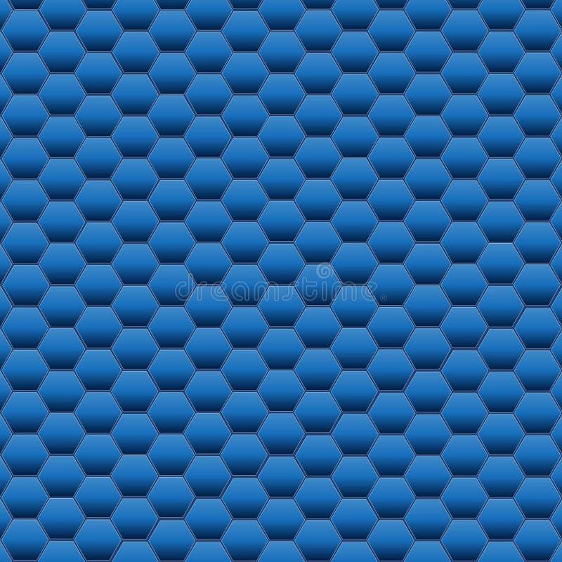 Blaue Hexagon-Hintergrund-Beschaffenheit Auch im corel abgehobenen Betrag stockbild