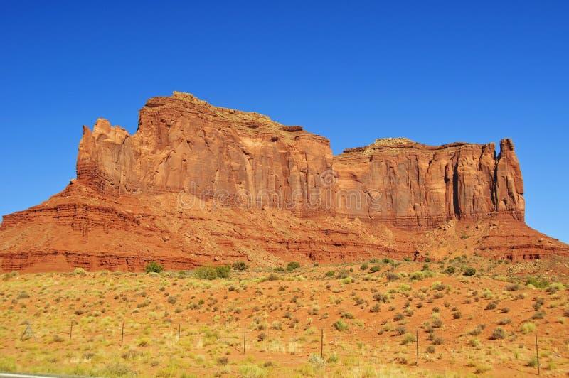 Blaue Himmel über Denkmal-Tal in Utah lizenzfreies stockfoto