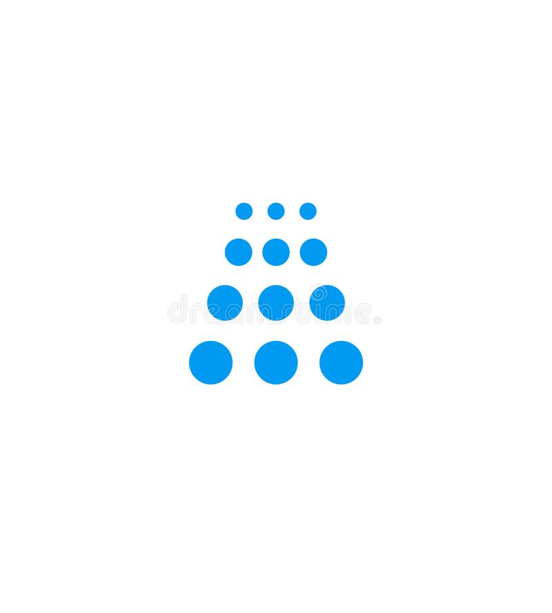 Blaue Ikone der Duschkabine, Wasserfallemblem, Waschanlagefirmenlogoschablone, lokalisierte Vektorillustration auf Weiß vektor abbildung