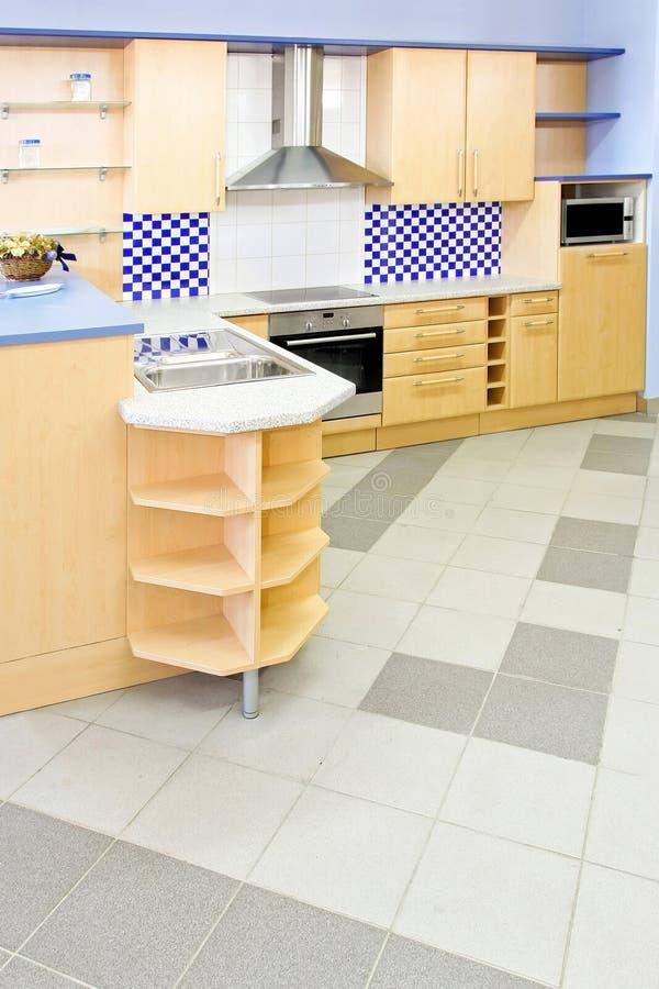 Blaue Küchevertikale lizenzfreie stockfotos