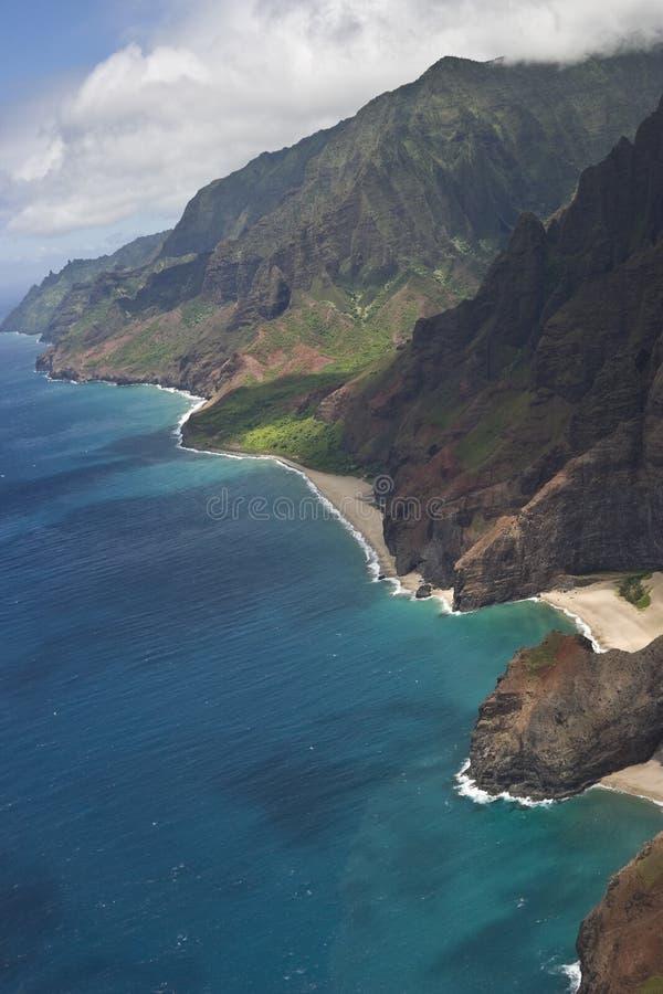 Blaue Küstenlinie stockbild