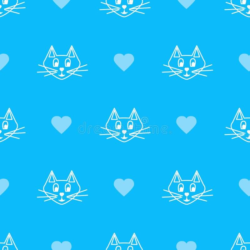 Blaue Katze lizenzfreie abbildung