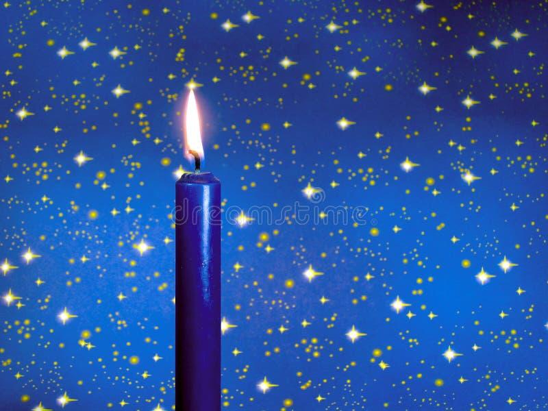 Blaue Kerze stockfoto