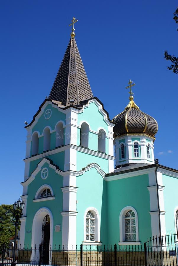 Blaue Kirche stockbilder