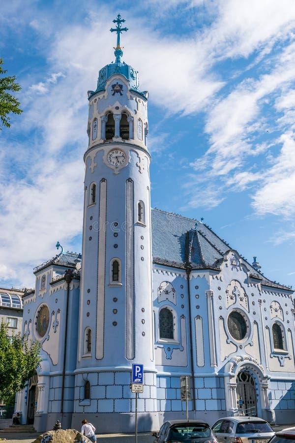 Blaue Kirche von Elizabeth stockfoto