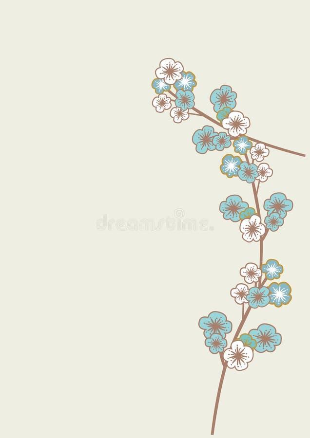 Blaue Kirschblüte-Blumen stock abbildung
