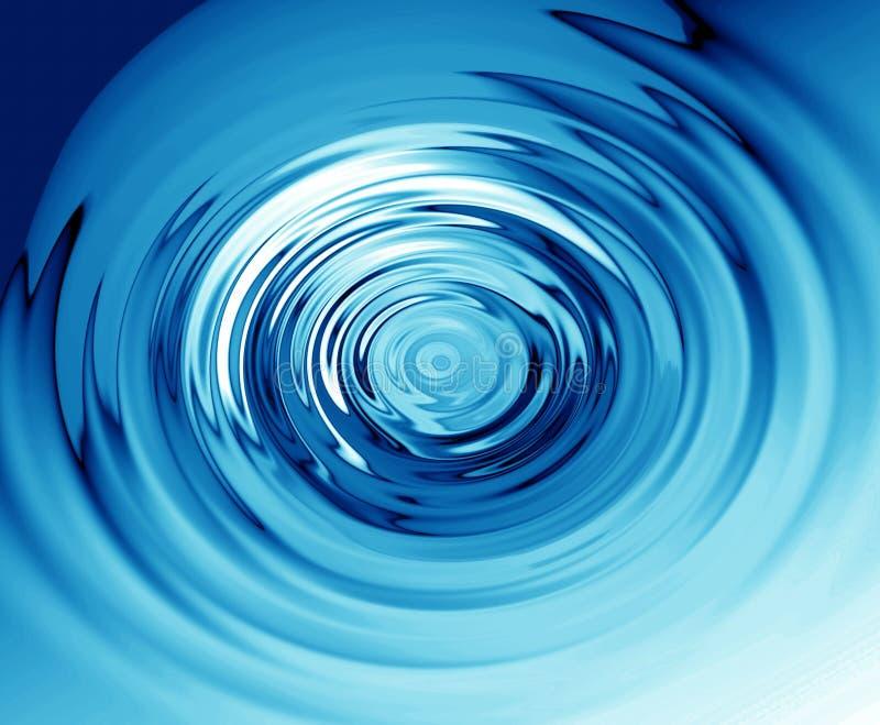 Blaue Kräuselungen auf Wasser stock abbildung