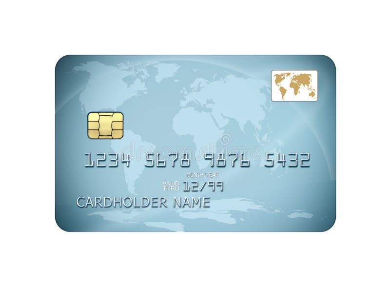 Blaue Kreditkarte lizenzfreies stockfoto