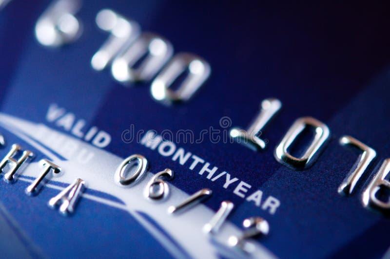 Blaue Kreditkarte lizenzfreies stockbild