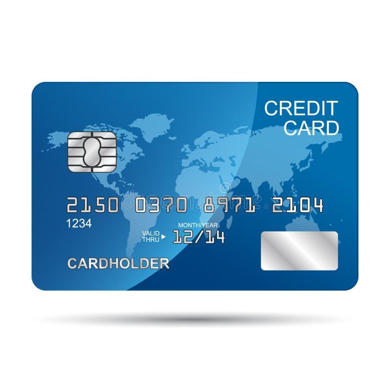 Blaue Kreditkarte stock abbildung