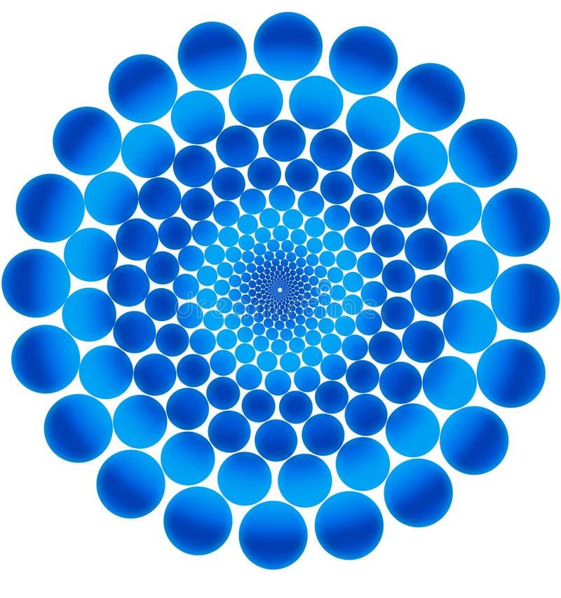 Blaue Kreise. stock abbildung
