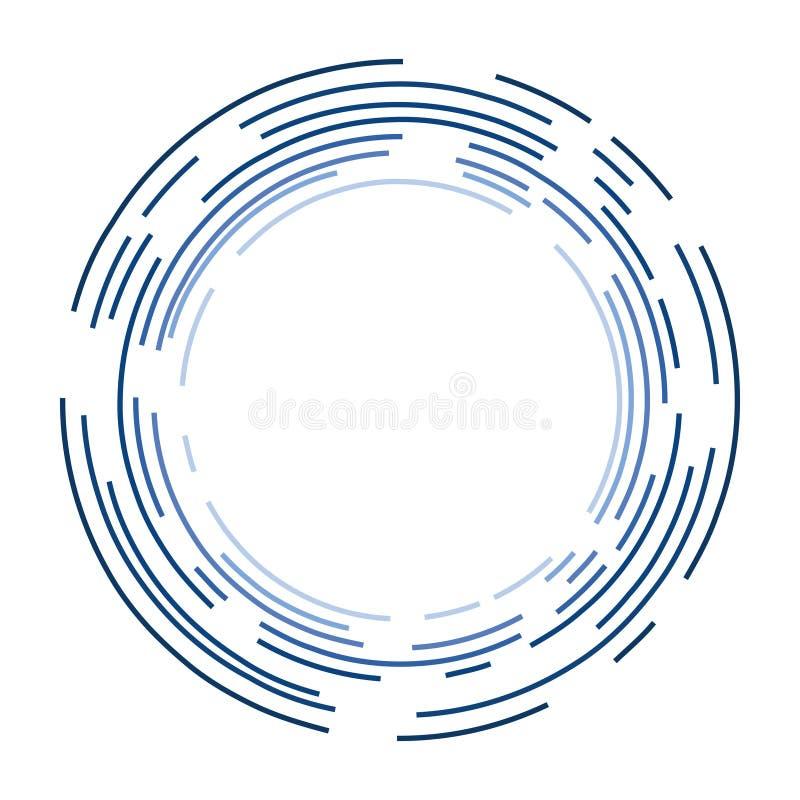 Blaue Kreise in einem Kugelform-Design stockbild