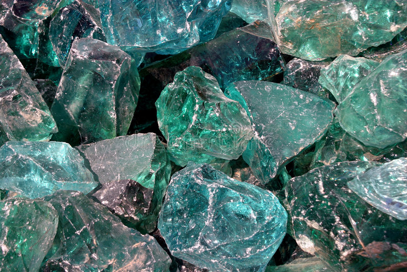 Blaue Kristalle lizenzfreie stockfotografie