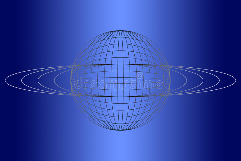 Blaue Kugel stock abbildung