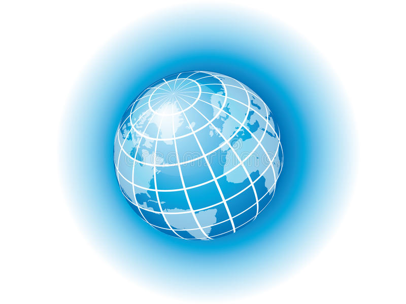 Blaue Kugel lizenzfreie abbildung