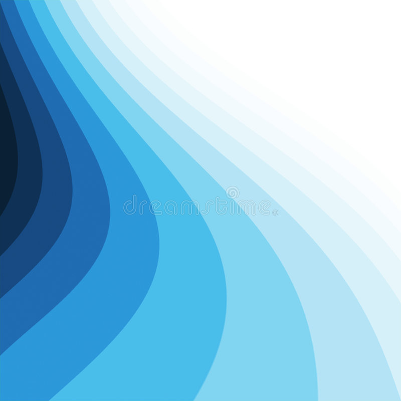 Blaue Kurven vektor abbildung