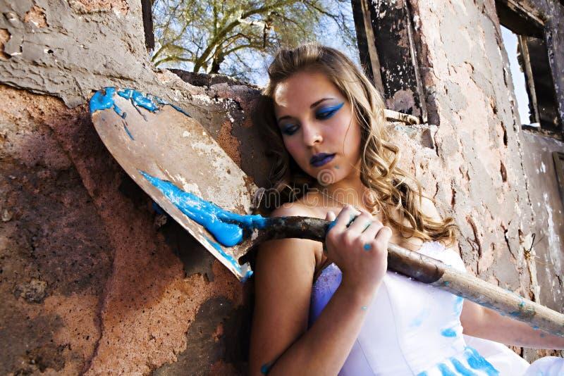 Blaue Lack-Braut stockfoto