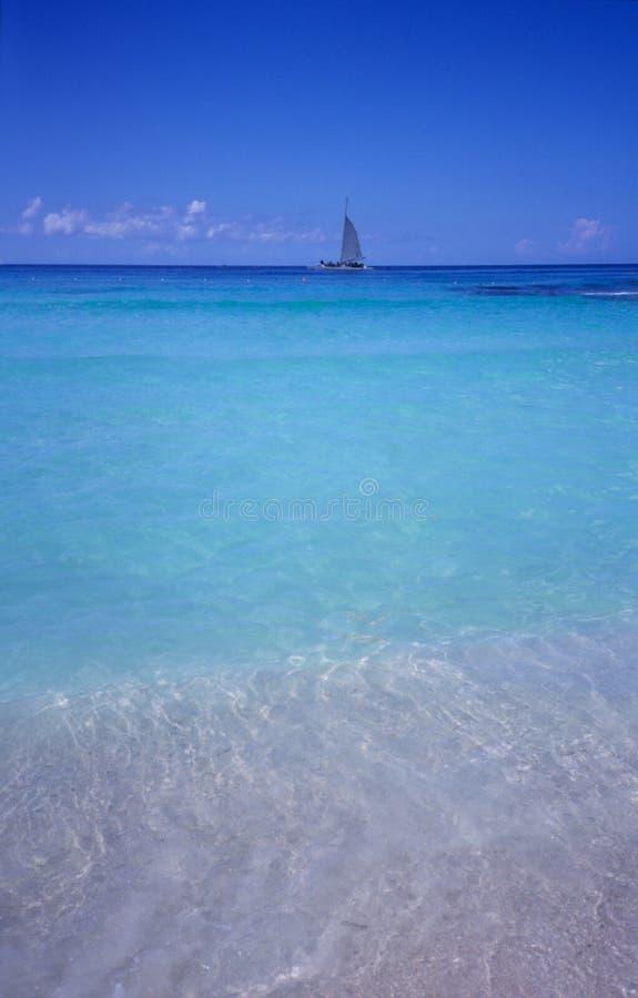 Blaue Lagune - Bayahibe Strand - Dominikanische Republik lizenzfreie stockfotos